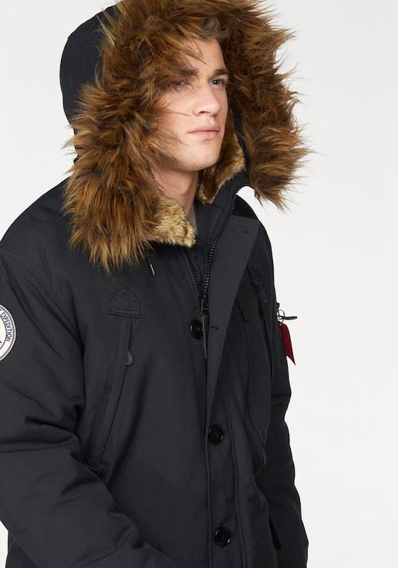 Industries Alpha Noir Parka D'hiver 'polar' En QrdCtsh