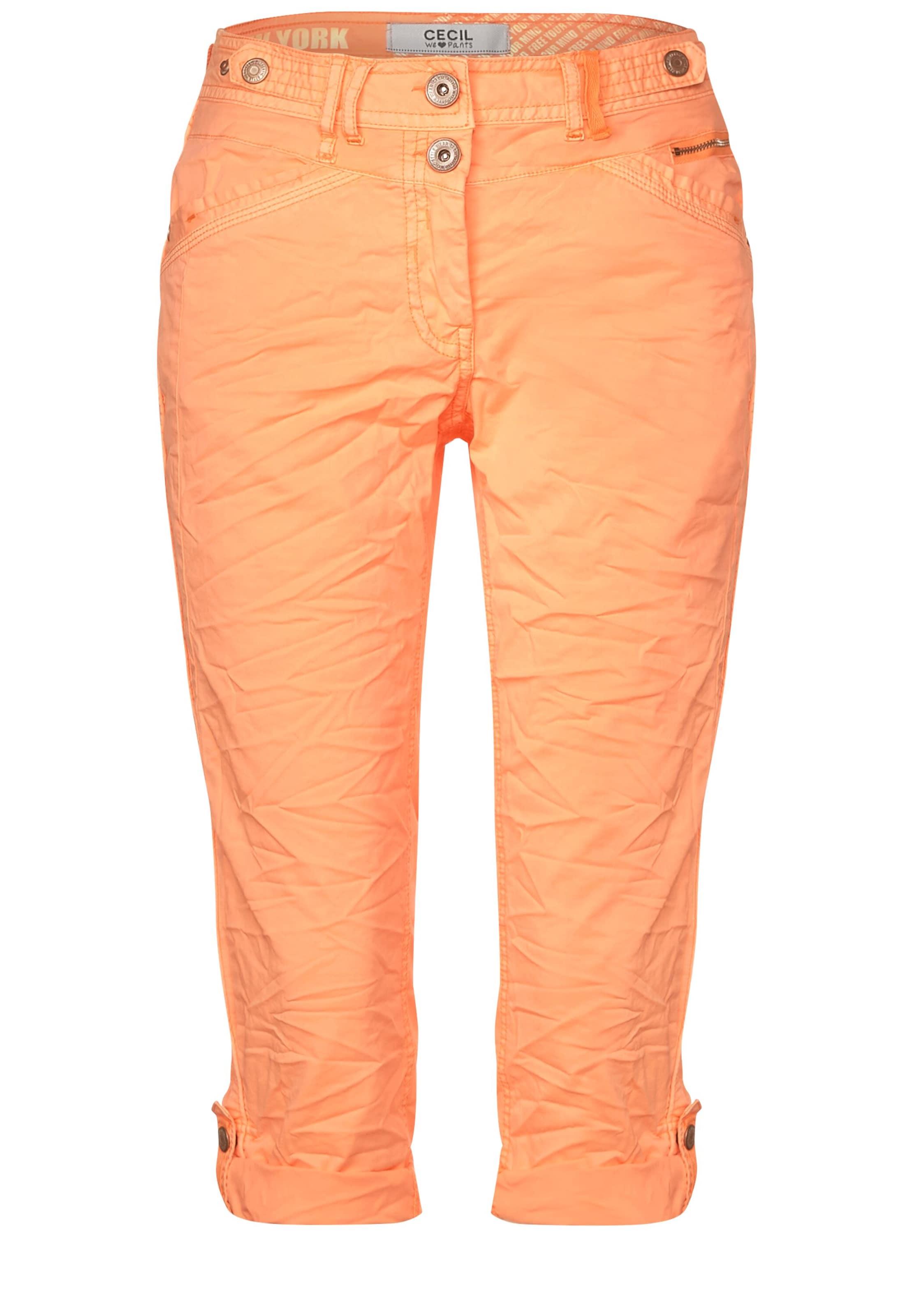 CECIL 3/4 Hose im Colour-Style in orange