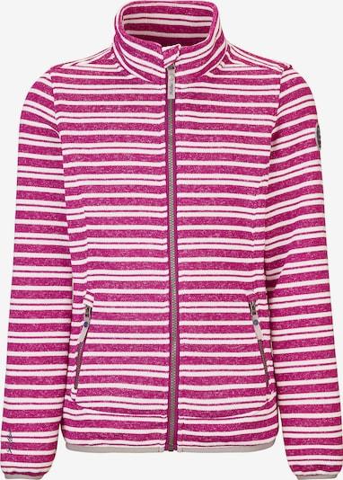 KILLTEC Fleecejacke 'Dalenna' in pink / weiß: Frontalansicht