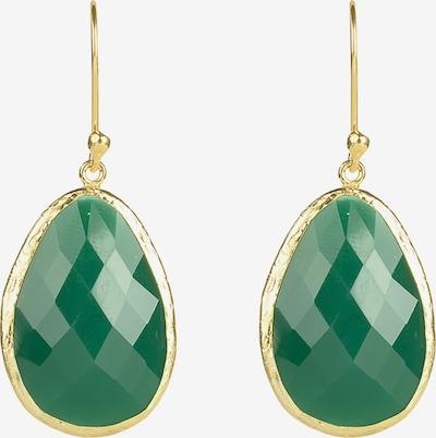 Latelita Ohrringe in gold / grün, Produktansicht