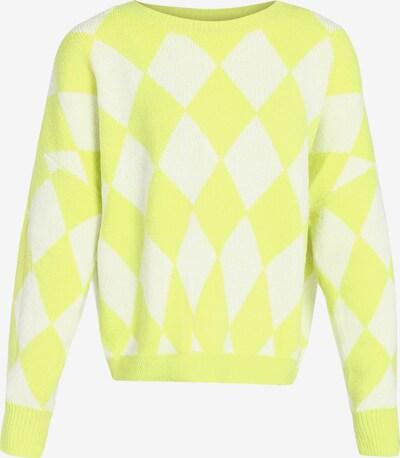 MYMO Pullover in neongelb / weiß, Produktansicht