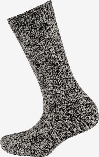 BIRKENSTOCK Socks 'Slub' in Light grey / Black, Item view