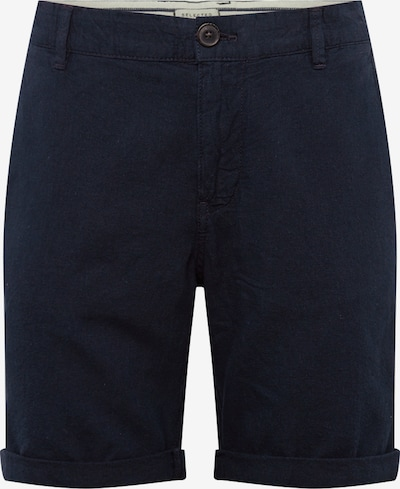 SELECTED HOMME Chino 'SLHStraight-Paris W' in de kleur Donkerblauw, Productweergave