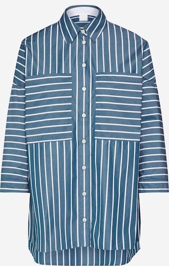 BOSS Bluse 'Cocola' in taubenblau / weiß, Produktansicht