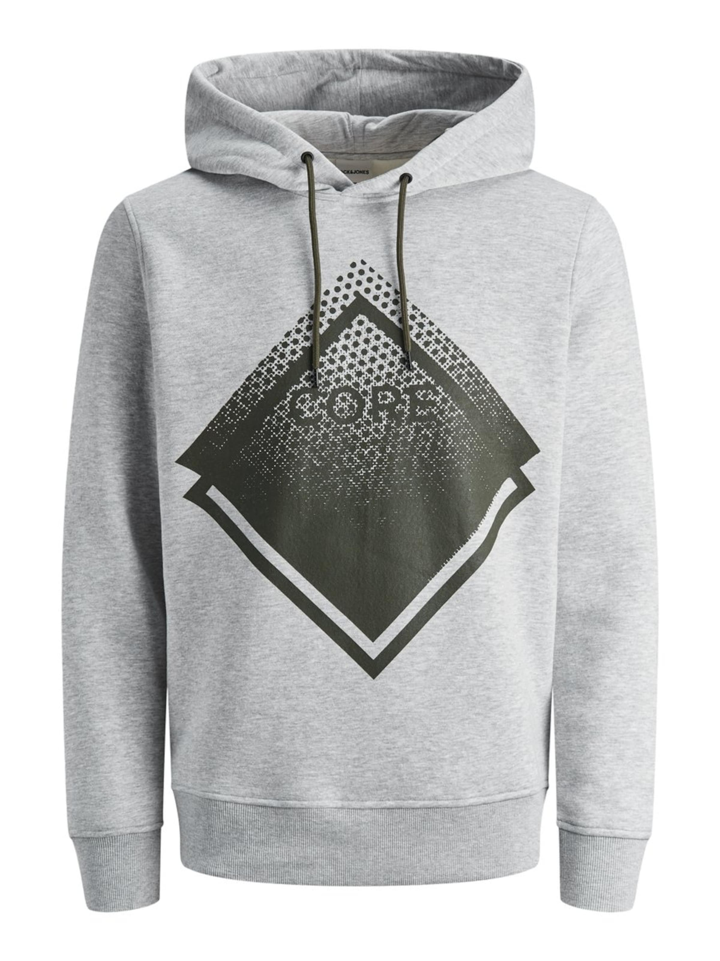 ChinéKaki Jones En Sweat Jackamp; Gris shirt 0PwnkO