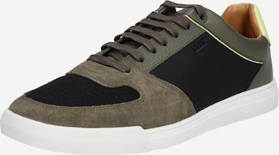BOSS Sneaker 'Cosmopool_Tenn_mx1' in dunkelgrün / weiß, Produktansicht