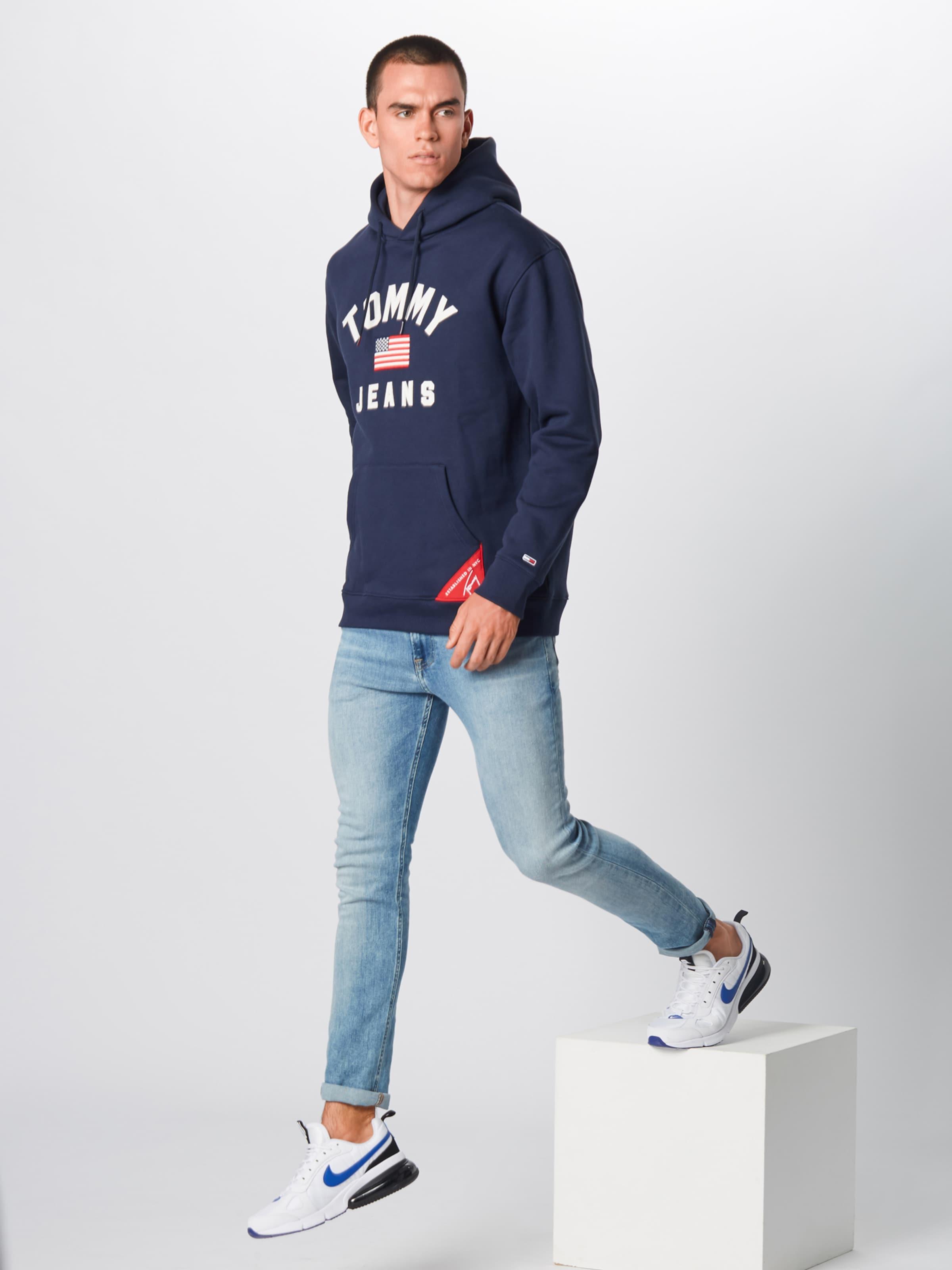 In 'americana' DunkelblauWeiß Tommy Jeans Sweatshirt CQrsothdxB