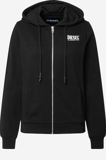 DIESEL Sweat jacket 'Victoria' in Black / White, Item view