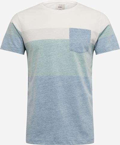 Redefined Rebel Shirt 'Dexter Tee' in blau / grün, Produktansicht