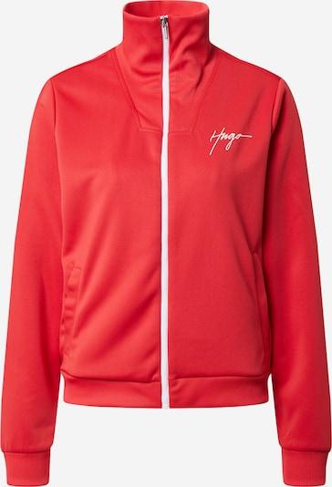 HUGO Sweatvest 'Naninia' in de kleur Rood / Wit, Productweergave