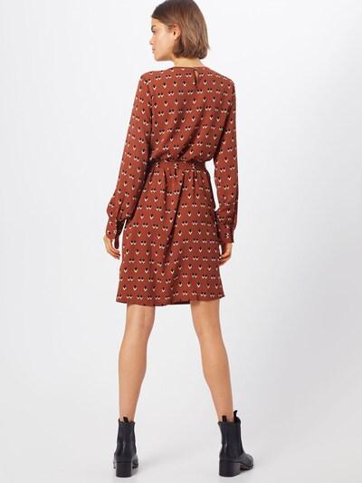 Suknelė iš OBJECT , spalva - rusva / juoda / balta: Vaizdas iš galinės pusės