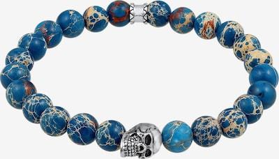 KUZZOI Armband in de kleur Blauw / Marine / Pastelblauw / Zilver, Productweergave