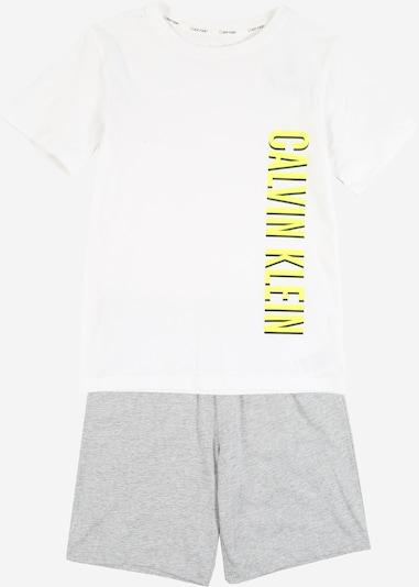 Calvin Klein Underwear Pyjama en gris chiné / blanc, Vue avec produit