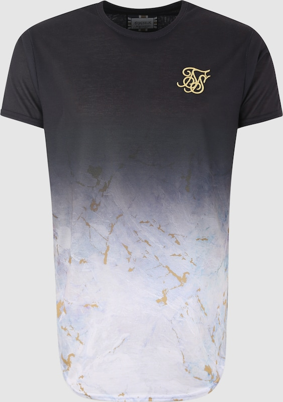 SikSilk Shirts in hellgrau   schwarz  Bequem und günstig