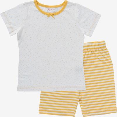People Wear Organic Pyjama in pastellgelb / weiß, Produktansicht