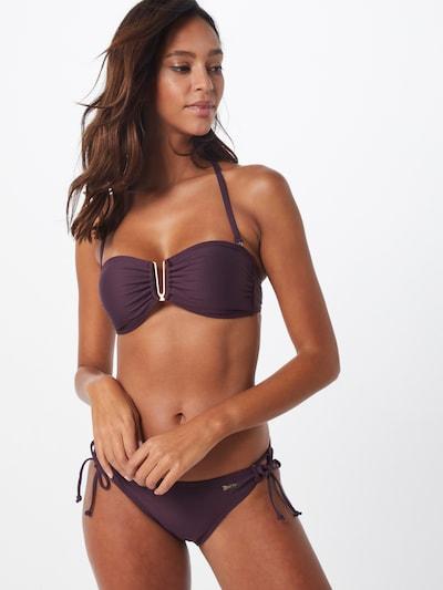 ABOUT YOU Bikini Top 'Melanie' in aubergine: Frontalansicht