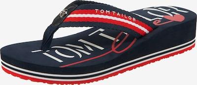 TOM TAILOR Žabky - noční modrá / červená / bílá, Produkt