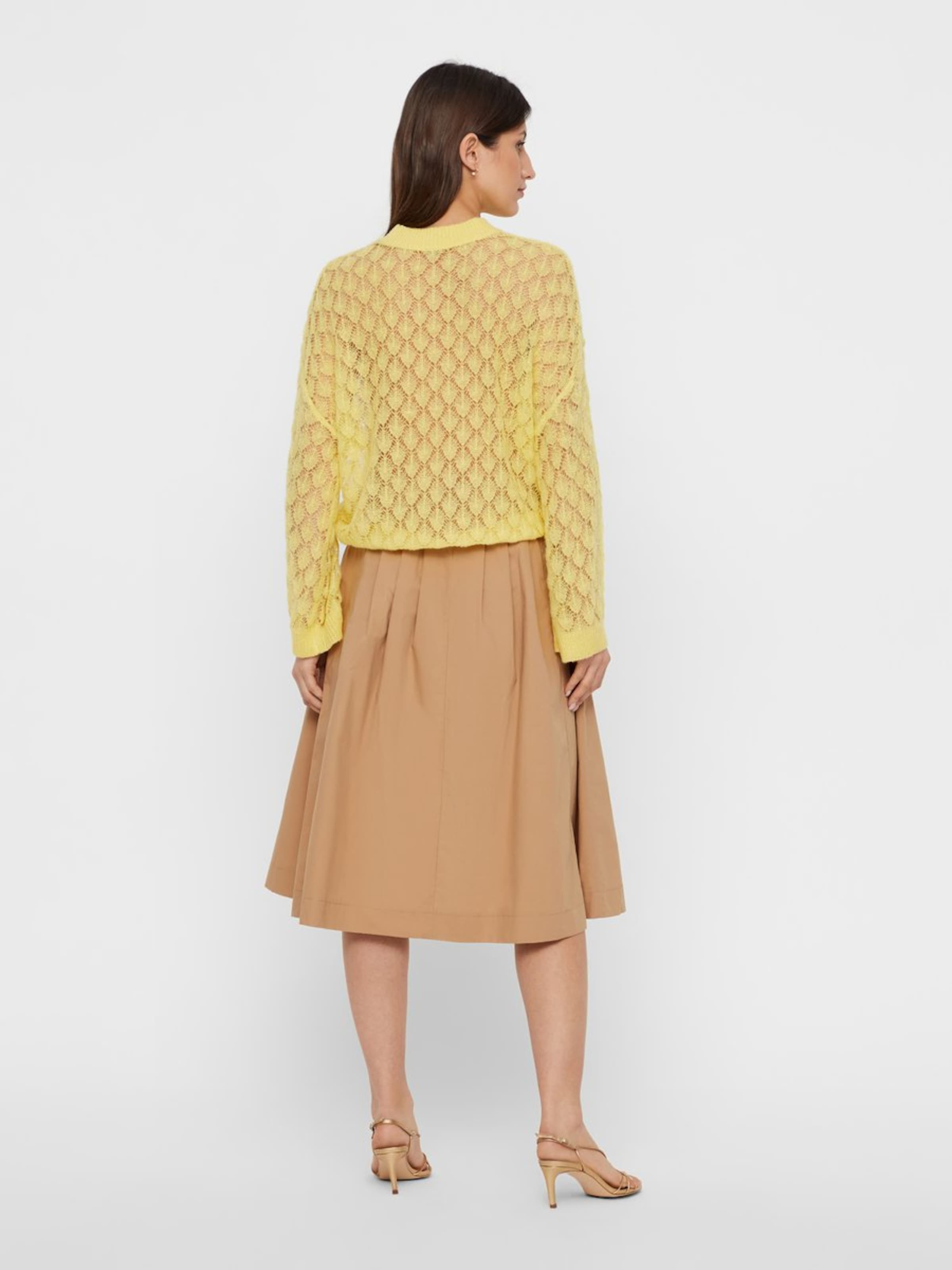 over En Y a s Jaune Pull mN8nvw0