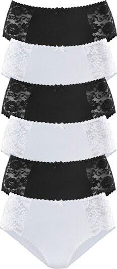 PETITE FLEUR Midislip in schwarz / weiß, Produktansicht