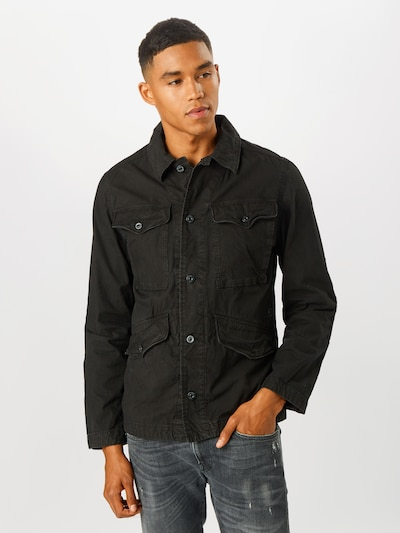 G-Star RAW Prechodná bunda 'Vodan Worker Overshirt' - čierna, Model/-ka