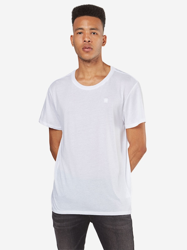 G-Star RAW T-Shirt 'Base HTR' in weiß, Modelansicht
