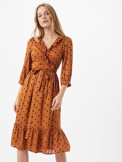 OBJECT Kleid in karamell / schwarz, Modelansicht