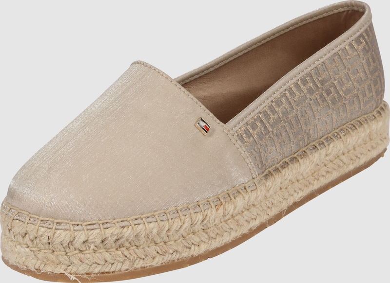 tommy hilfiger espadrille mit metallic details in beige. Black Bedroom Furniture Sets. Home Design Ideas