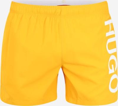 HUGO Badehose 'Abas' in orange / weiß, Produktansicht