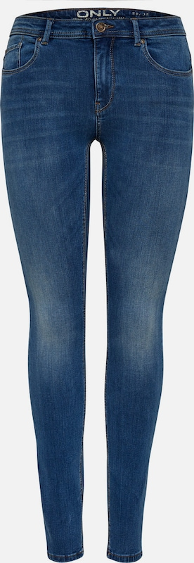 ONLY Skinny Fit Jeans 'Carmen Reg' in Blau denim  Neuer Aktionsrabatt
