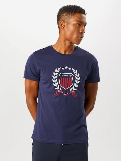 GANT Koszulka w kolorze ciemny niebieski / czerwony / białym: Widok z przodu