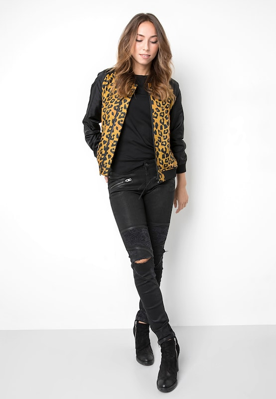 tigha Bomberjacke mit Leopardenmuster  ' Garicka '