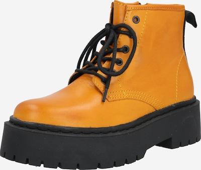 Bianco Kozaki 'BIADEB Laced Up Short Boot' w kolorze musztardowy / czarnym: Widok z przodu