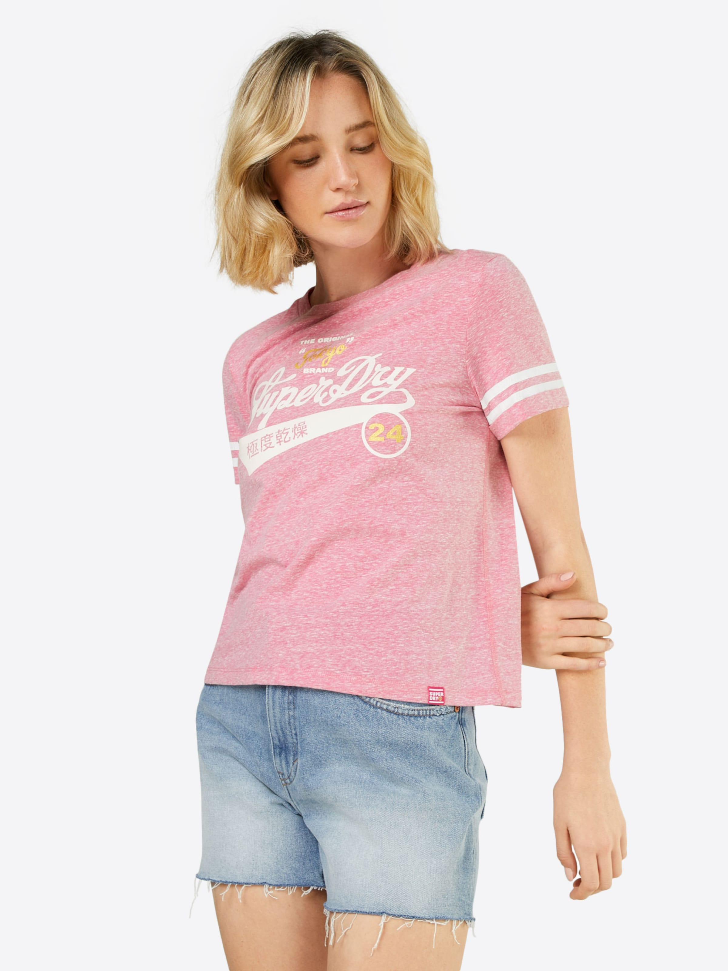 Pink T In shirt Superdry Pink Superdry shirt T In DHIE29