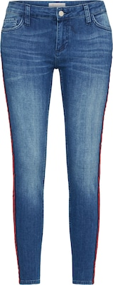 Rich & Royal Skinny Jeans 'Midi Red Stripe'