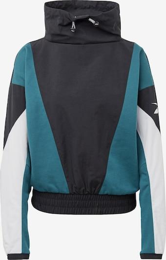 REEBOK Sweatshirt in petrol / schwarz / weiß, Produktansicht