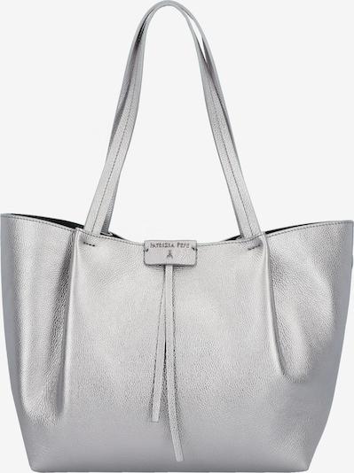 PATRIZIA PEPE Borsa Shopper Tasche Leder 30 cm in silber, Produktansicht