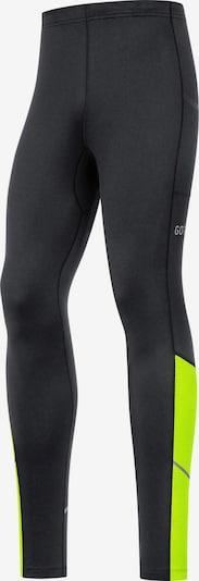 GORE WEAR Lauftights 'R3 Thermo' in neongelb / schwarz, Produktansicht