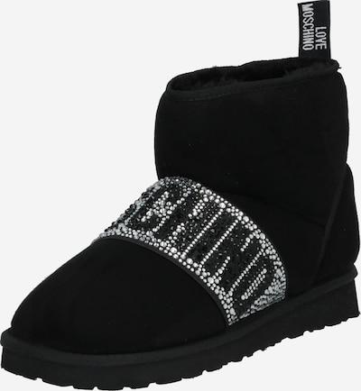 Love Moschino Saappaat 'Winter Love' värissä musta / hopea, Tuotenäkymä