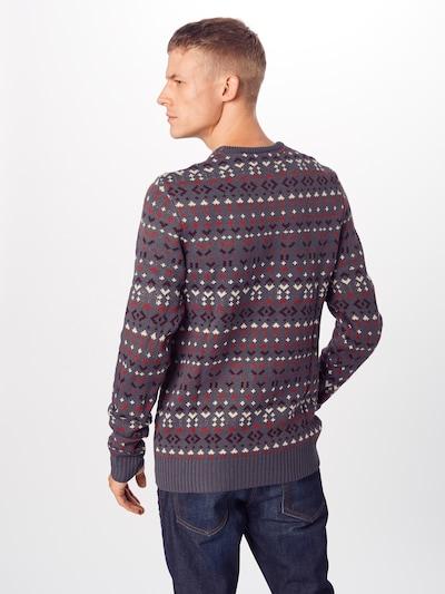 BLEND Džemperis pieejami dubļu krāsas / vīnsarkans / tumši sarkans / balts: Aizmugures skats
