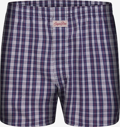 Sugar Pine Boxershorts 'Classic Check' in de kleur Donkerblauw, Productweergave