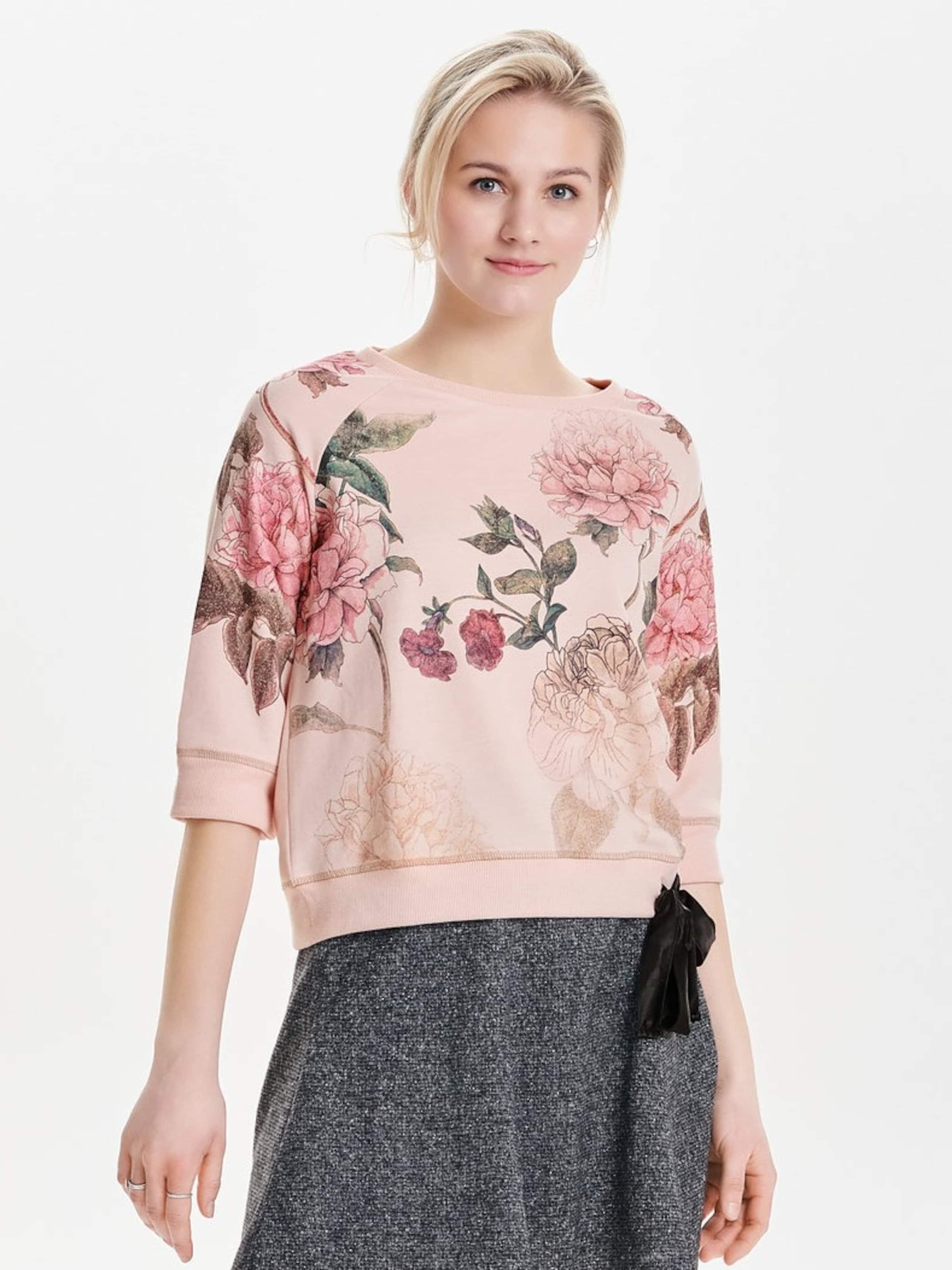 Verkauf Günstig Online ONLY Blumenprint Sweatshirt Online Wie Vielen Verkauf srVGmEpw5