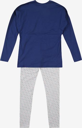 SANETTA Pyjama in blau / grau: Rückansicht