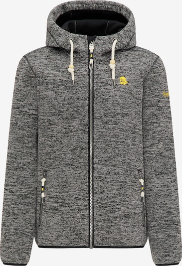 Schmuddelwedda Fleece jas in de kleur Grijs / Zwart, Productweergave