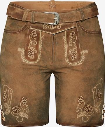 MARJO Spodnie ludowe w kolorze brązowy