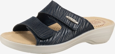 FLY FLOT 391185 Komfort-Pantoletten in blau / dunkelblau, Produktansicht