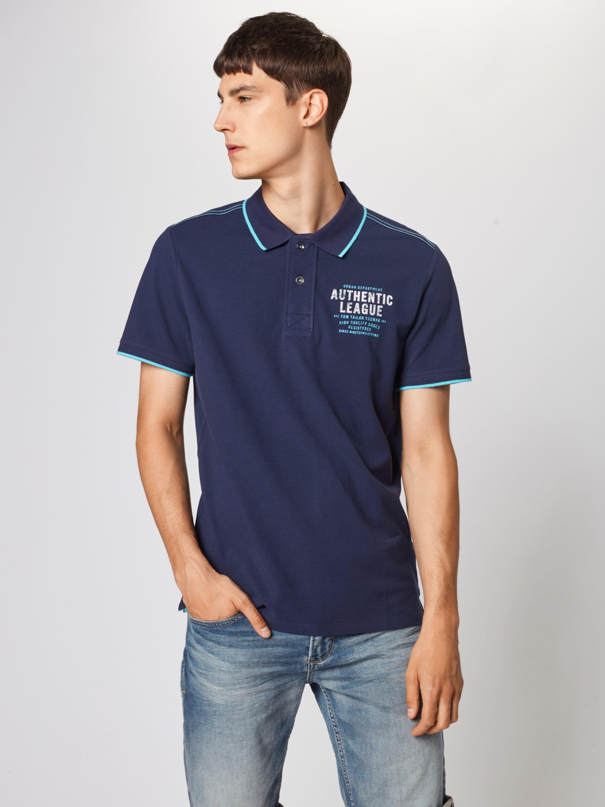 T shirt Foncé Tom En Tailor Bleu 54jARL