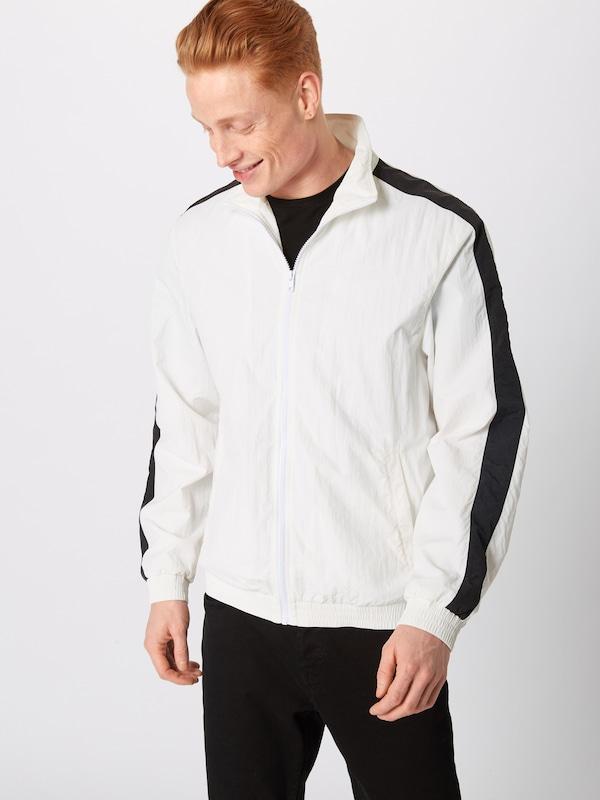 Mi Classics Crinkle Urban Sleeve Track Jacket' NoirBlanc Veste 'striped En saison 54AL3Rqj