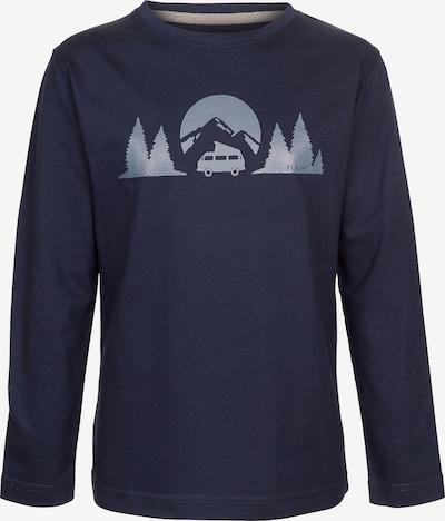 ELKLINE Langarmshirt 'Longwayhome' in nachtblau / opal: Frontalansicht