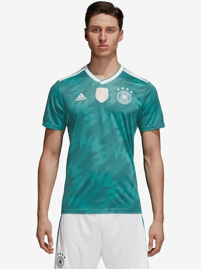 ADIDAS PERFORMANCE Trikot 'DFB Away WM 2018' in jade / weiß: Frontalansicht