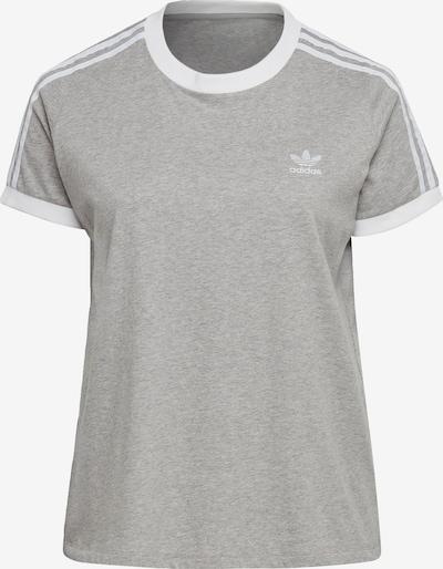 ADIDAS ORIGINALS T-Shirt in graumeliert / weiß, Produktansicht
